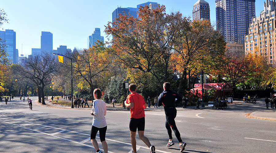 Jogging at Central Park.